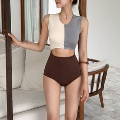 GOURAMI - Color-Block Cutout Swimsuit