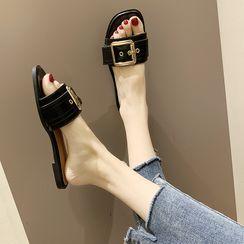 Wello(ウェロ) - Buckle Detail Slide Sandals