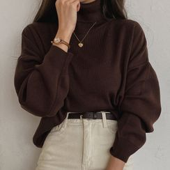 MERONGSHOP - Turtle-Neck Sweater in 10 Colors
