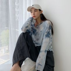 PPGIRL(PPガール) - Drop-Shoulder Tie Dyed T-Shirt