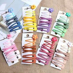 SUGAR STUDIO  - Set: Flower Hair Pin + Hair Clip (assorted designs)