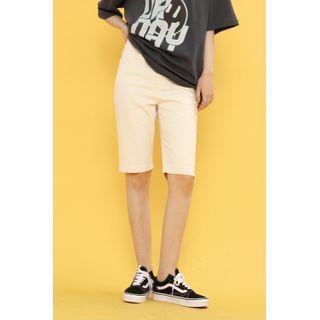 SIMPLY MOOD - High-Waist Straight-Leg Shorts