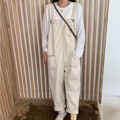 icecream12 - Stitched Overall Baggy Pants / Jeans