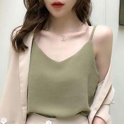 Gwendolyn - 纯色吊带背心上衣