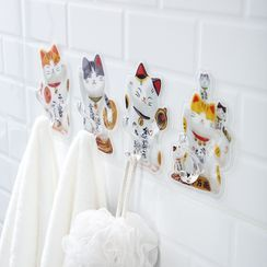 Yulu - Fortune Cat Adhesive Wall Holder