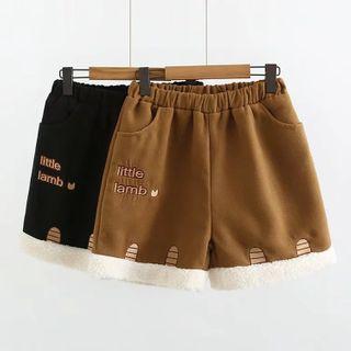 白金天使 - 刺繡寬腿短褲