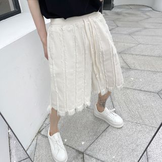 Bjorn - Tasseled Denim Shorts