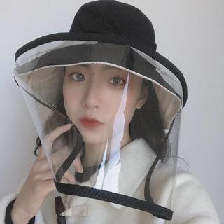 SOCOOL - Plain Bucket Hat with Face Shield