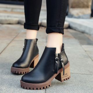 Aneka - Block Heel Ankle Boots