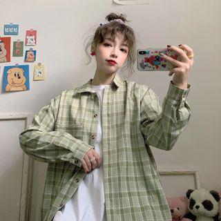 Sisyphi - Long-Sleeve Plaid Shirt