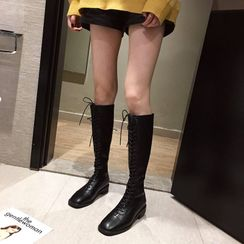 Alisse - Lace Up  Tall Boots