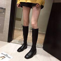 Alisse - 繫帶高身靴