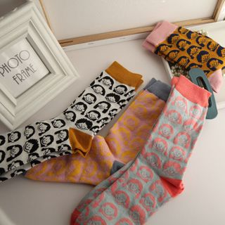Spider Lily - All Over Face Socks