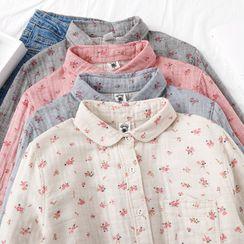 Mori Girls - Floral Print Shirt