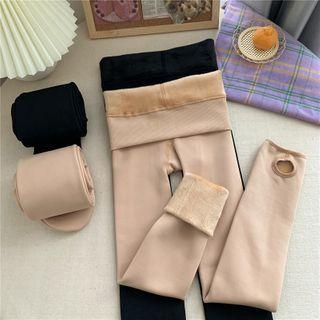 Fabricino - Plain Fleece-Lined Tights