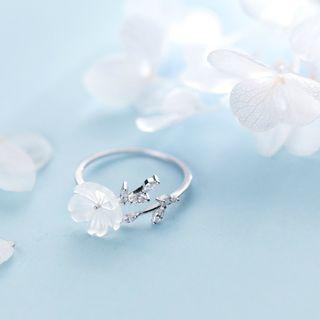 A'ROCH - 925 Sterling Silver Flower Open Ring