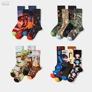 QUICKSOOX - All Over Jacquard Socks