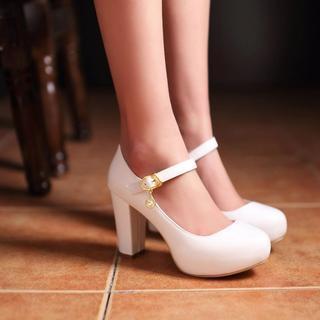 Shoes Galore(シューズガロア) - メリージェーン 厚底 パンプス
