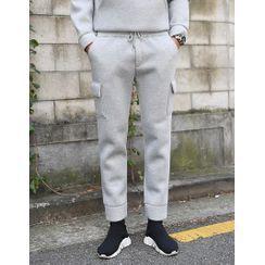 GERIO - Drawstring-Waist Neoprene Cargo Pants