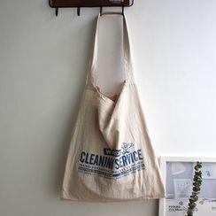 it happens(イットハプンズ) - Letter Print Canvas Tote Bag