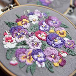 Embroidery Kingdom - Floral DIY Embroidery Kit / Frame / Set