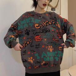 Florabbie - All Over Print Sweatshirt