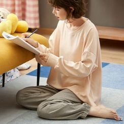 Jeony - Long-Sleeve Loungewear Set