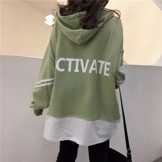 Dreamkura - Mock Two-Piece Oversize Hooded Long-Sleeve T-Shirt