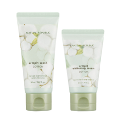 NATURE REPUBLIC - Cotton Armpit Kit: Cotton Armpit Wash 80ml + Cotton Armpit Whitening Cream 50ml