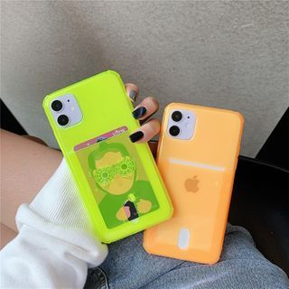 ZOGO - Fluorescent Card Holder Phone Case - iPhone 12 Pro Max / 12 Pro / 12 / 12 mini / 11 Pro Max / 11 Pro / 11 / SE / XS Max / XS / XR / X / SE 2 / 8 / 8 Plus / 7 / 7 Plus