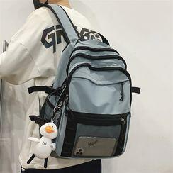 SUNMAN - Mesh Pocket Plain Backpack