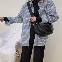 Bam's - Faux Leather Shoulder Bag