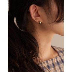 Dali hotel - Set: Open-Hoop Earrings + Rhinestone Piercing