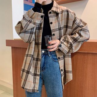 Dute - Plaid Shirt Jacket