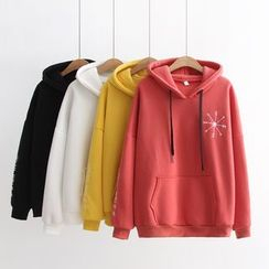 TOJI - Embroidery Hooded Pullover