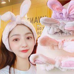Yunikon - Haarband mit Hasenohren für die Gesichtsreinigung