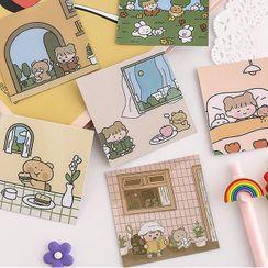 Eteum - 卡通印花桌上 / 日記背景裝飾紙