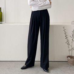 Seoul Fashion(ソウルファッション) - Wide-Leg Dress Pants