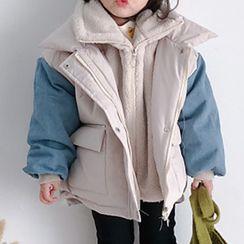 Bear Beans  - 小童牛仔拼接夾棉夾克