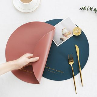 Artisani - Round Faux Leather Placemat