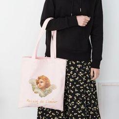 TangTangBags - Canvas Angel Print Tote Bag