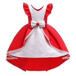 Junon - Kids Ruffle Sleeveless Party Dress