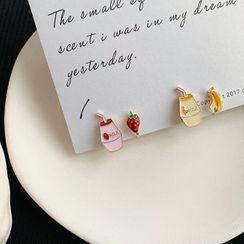 Coolgirl - 不對稱合金水果及飲料耳環