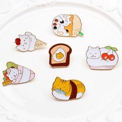 Ginga - 貓咪搪瓷飾針 (多款設計)
