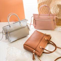 Denville - Faux Leather Shoulder Bag