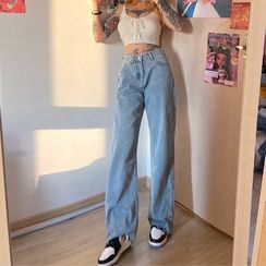 Bababy - Washed Wide-Leg Jeans
