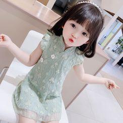 Ohori - Kids Sleeveless Mini A-Line Lace Dress