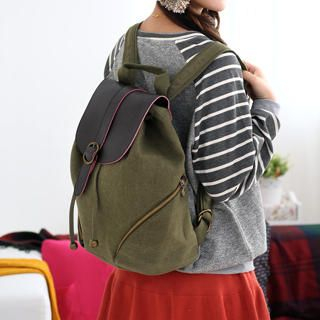 59 Seconds - Buckled Canvas Backpack