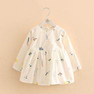 Seashells Kids - Kids Long-Sleeve Embroidered Mini A-Line Dress