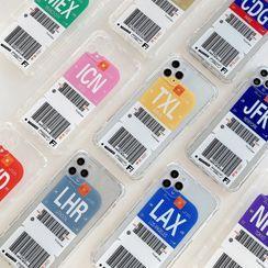 Pixel Dream - 机票印花透明手机保护套 - iPhone 12 Pro Max / 12 Pro / 12 / 12 mini / 11 Pro Max / 11 Pro / 11 / XS Max / XR / XS / X / 8 Plus / 8 / 7 Plus / 7 / SE 2
